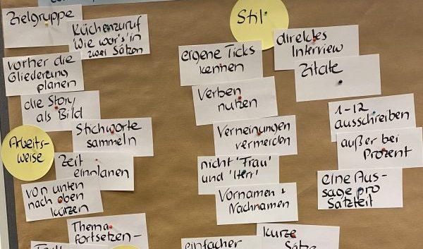Nachklapp zum Workshop, Foto Uta Gröschel